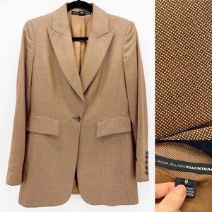 Linda Allard Ellen Tracy Wool/Silk Designer Blazer
